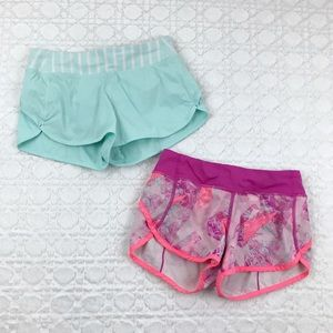 <Ivivva> Lot of 2 Speedy Shorts Gym Girls Size 12